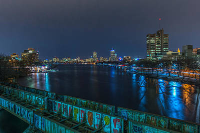 Boston From The Boston University Bridge Art Print by Bryan Xavier