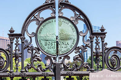 Photograph - Boston Garden Gate Detail by Val Black Russian Tourchin