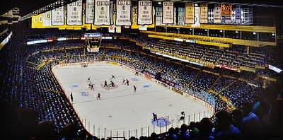 Boston Bruins Painting - Boston Garden Ice by T Kolendera