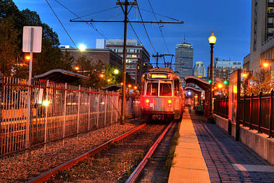 Boston Green Line Train Headed To Kenmore Square Art Print by Toby McGuire