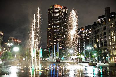 Photograph - Boston Greenway Fountain Boston Ma Splash by Toby McGuire