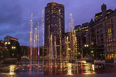 Photograph - Boston Greenway Fountain Boston Ma by Toby McGuire