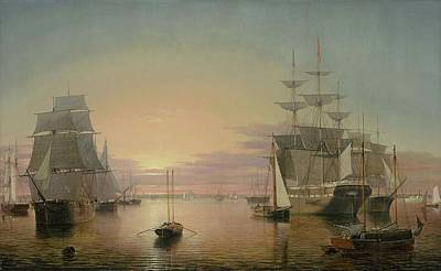 Fitz Painting - Boston Harbor About by Henry Lane