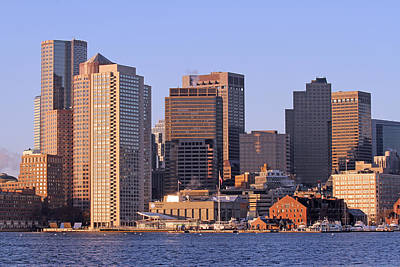 Custom House Tower Photograph - Boston Harbor And New England Aquarium by Juergen Roth