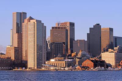 Boston Harbor And New England Aquarium Art Print