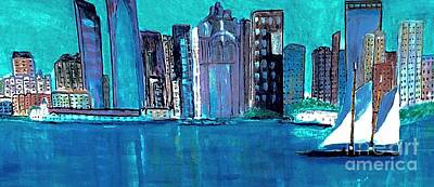 Painting - Boston Harbor by Anne Sands