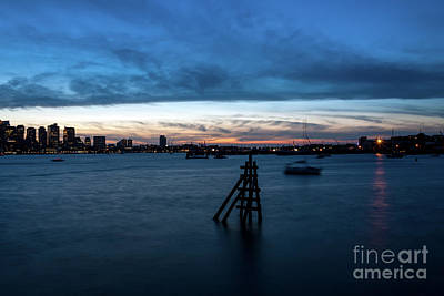 Photograph - Boston Blues Hour - Hyatt Regency Harbor View by Kimberly Nyce