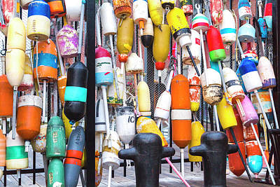 Boston Harbor Buoys Art Print