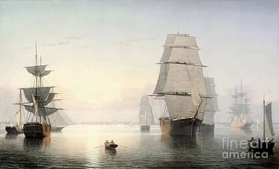 Fitz Painting - Boston Harbor by Celestial Images