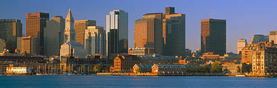 Boston Harbor From South Boston Art Print by Panoramic Images