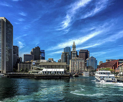 Photograph - Boston Harbor by Gordon Engebretson