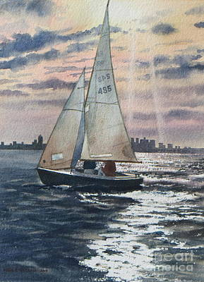 Painting - Boston Harbor by Karol Wyckoff