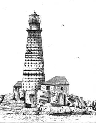 Boston Harbor Lighthouse Art Print by Tim Murray