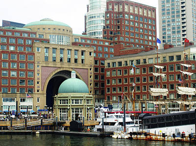 Photograph - Boston Harbor by Mary Capriole