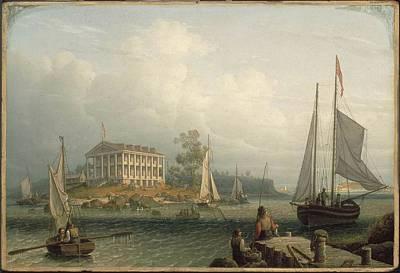 Boston Harbor Islands Painting - Boston Harbor by MotionAge Designs