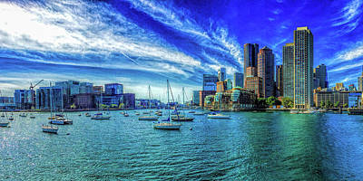 Photograph - Boston Harbor Panoramic by Gordon Engebretson