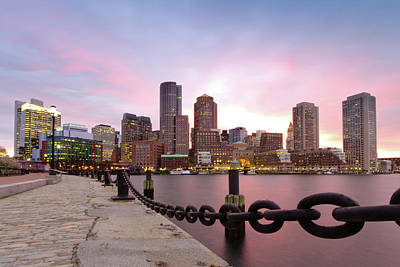Chains Photograph - Boston Harbor by Photo by Jim Boud
