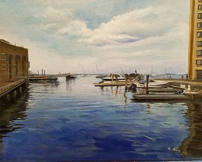 Painting - Boston Harbor by Rose Wang