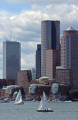 Photograph - Boston Harbor Sailing by Juergen Roth