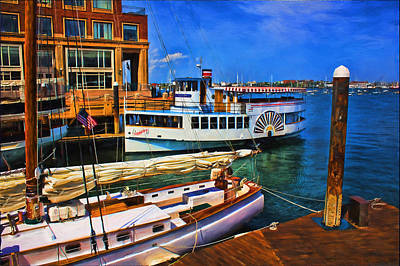 Photograph - Boston Harbor Series 1 by Carlos Diaz