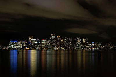 Boston Harbor Skyline Art Print