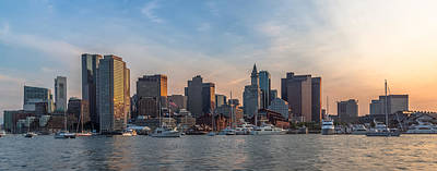 Photograph - Boston Harbor Sunset by Brian MacLean