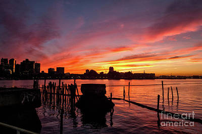 Photograph - Boston Harbor Sunset - Lewis Mall Harbor Park by Kimberly Nyce