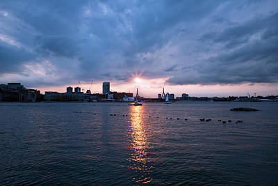 Photograph - Boston Harbor Sunset - Lopresti Park by Kimberly Nyce
