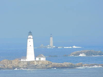 Photograph - Boston Harbors Lighthouses by Catherine Gagne