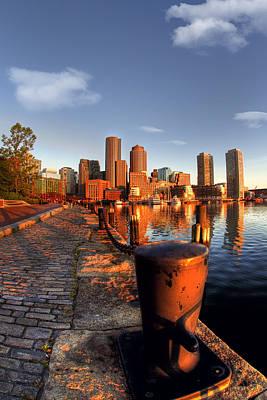 Photograph - Boston Harborwalk Sunrise by Joann Vitali