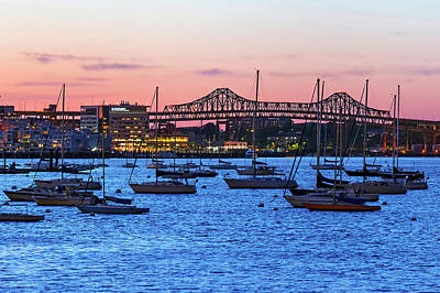 Zakim Photograph - Boston Harbour by Babak Tafreshi