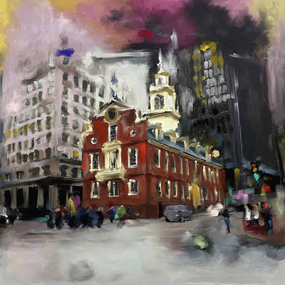 Freedom Painting - Boston I 470 1 by Mawra Tahreem