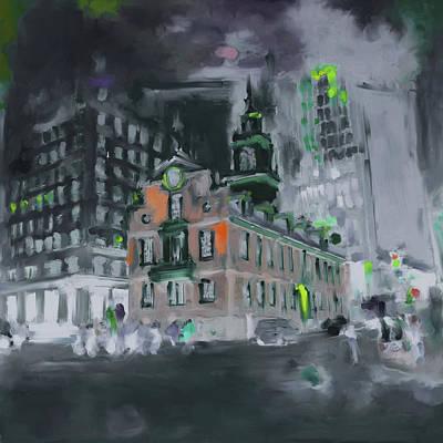 Boston Landmark Painting - Boston I 470 4 by Mawra Tahreem