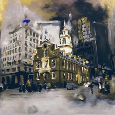 Boston Landmark Painting - Boston I 470 IIi by Mawra Tahreem