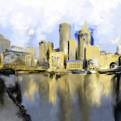 Charles River Painting - Boston II 480 IIi by Mawra Tahreem
