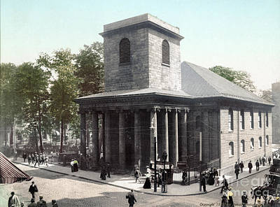Photograph - Boston, King's Chapel, 1900.  by Granger
