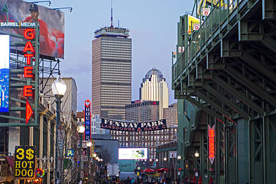 Photograph - Boston Lansdowne Street Fenway Park Gate E by Toby McGuire