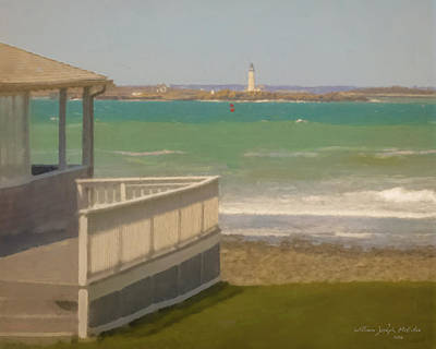 Painting - Boston Light As Seen From Lawn In Hull by Bill McEntee