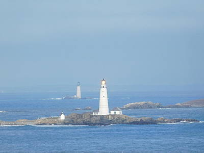Photograph - Boston Light Shining Brightly by Catherine Gagne