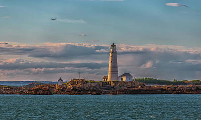 Photograph - Boston Lighthouse Sunset by Brian MacLean