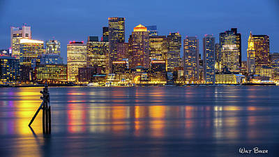 Photograph - Boston Lights by Walt Baker