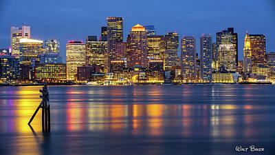 Photograph - Boston Lights by Walt Baker