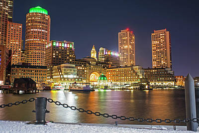Photograph - Boston Lit Up In Green For Saint Patrick's Day by Toby McGuire