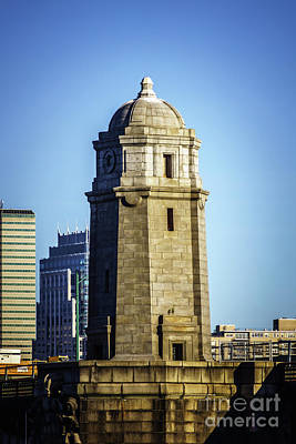 Boston Longfellow Bridge Tower Photo Art Print