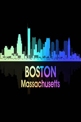 Digital Art - Boston Ma 5 Vertical by Angelina Vick