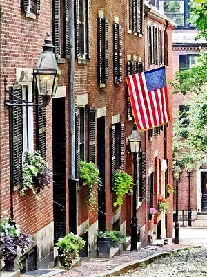 Photograph - Boston Ma - Acorn Street by Susan Savad