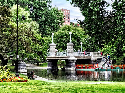 Photograph - Boston Ma - Boston Public Garden Bridge by Susan Savad