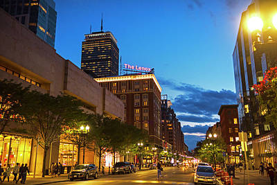 Photograph - Boston Ma Boylston Street Dusk by Toby McGuire