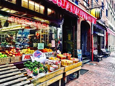 Photograph - Boston Ma - Fruit Stand by Susan Savad