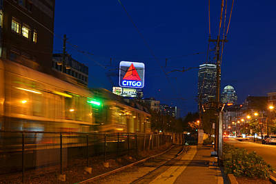 Photograph - Boston Ma Green Line Train On The Move by Toby McGuire